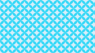 Baby Blue Overlapping Circles Pattern Background