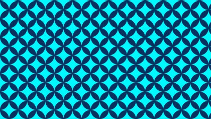 Blue Overlapping Circles Background Pattern