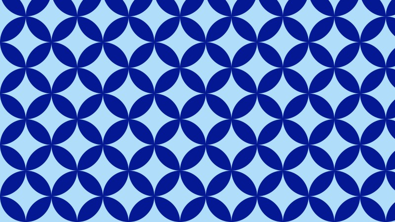 Blue Seamless Overlapping Circles Pattern