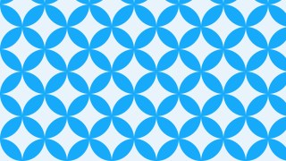 Blue Seamless Overlapping Circles Pattern Background