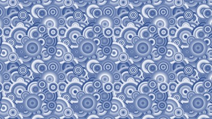 Blue Seamless Overlapping Concentric Circles Pattern Background Vector Image