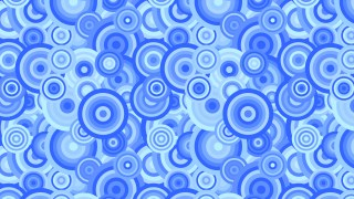 Blue Overlapping Concentric Circles Background Pattern