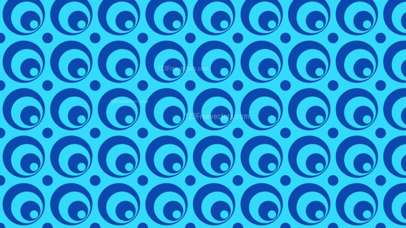 Blue Seamless Circle Pattern Vector