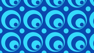 Blue Seamless Circle Background Pattern Graphic