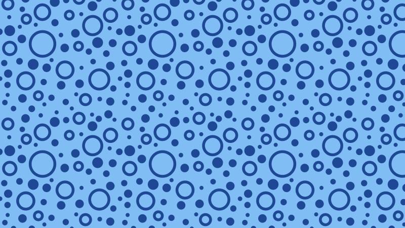Blue Seamless Geometric Circle Pattern Illustration