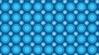 Blue Seamless Geometric Circle Background Pattern Image