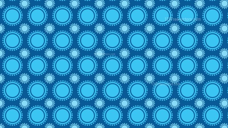 Blue Seamless Geometric Circle Background Pattern Image