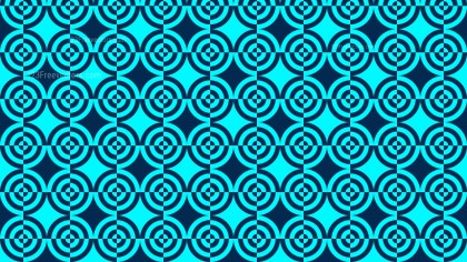 Blue Seamless Quarter Circles Background Pattern