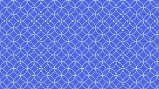 Cobalt Blue Overlapping Circles Background Pattern
