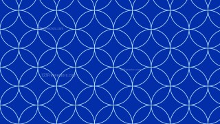 Royal Blue Seamless Overlapping Circles Pattern Background