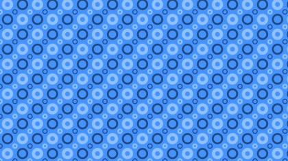 Blue Seamless Circle Pattern Background