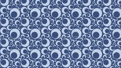 Blue Seamless Geometric Circle Pattern Vector Image