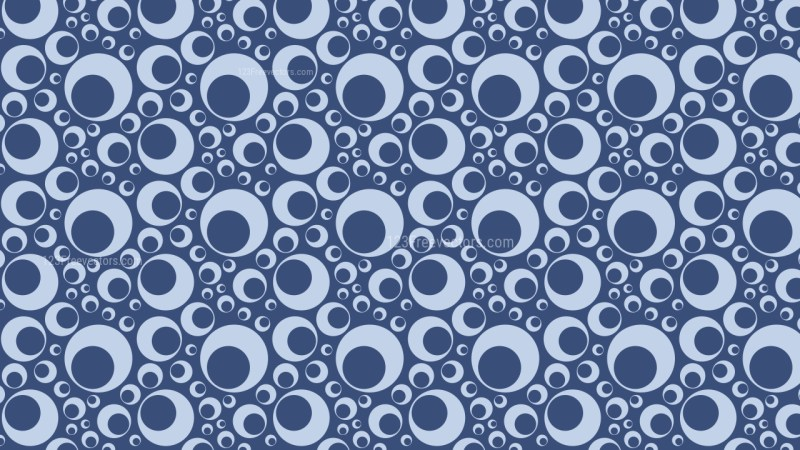 Blue Seamless Geometric Circle Pattern Vector Image