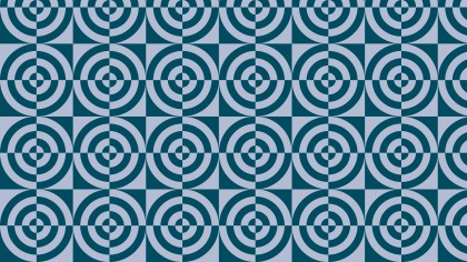 Blue Quarter Circles Pattern Vector Graphic