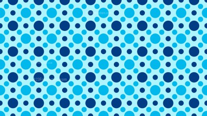 Blue Seamless Circle Pattern Illustrator
