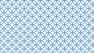 Light Blue Seamless Overlapping Circles Background Pattern Vector Illustration