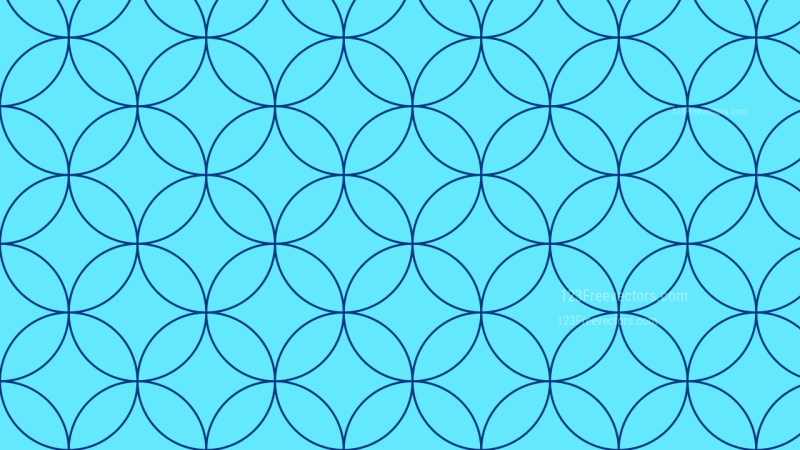 Blue Overlapping Circles Pattern