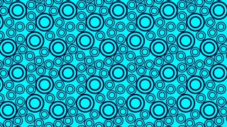 Turquoise Seamless Geometric Circle Background Pattern Illustration
