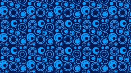 Navy Blue Seamless Circle Background Pattern Design