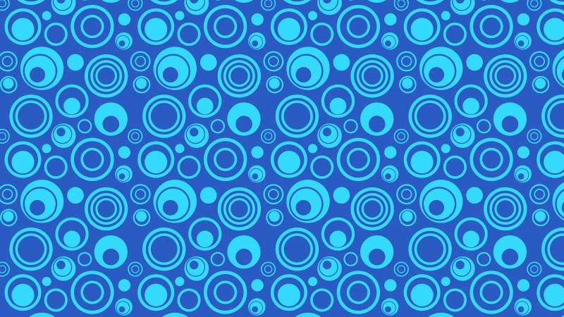 Blue Seamless Geometric Circle Pattern Image