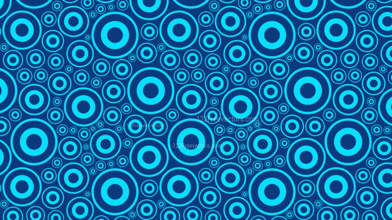 Blue Seamless Geometric Circle Pattern Background Vector
