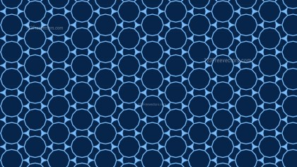 Navy Blue Seamless Circle Pattern Background