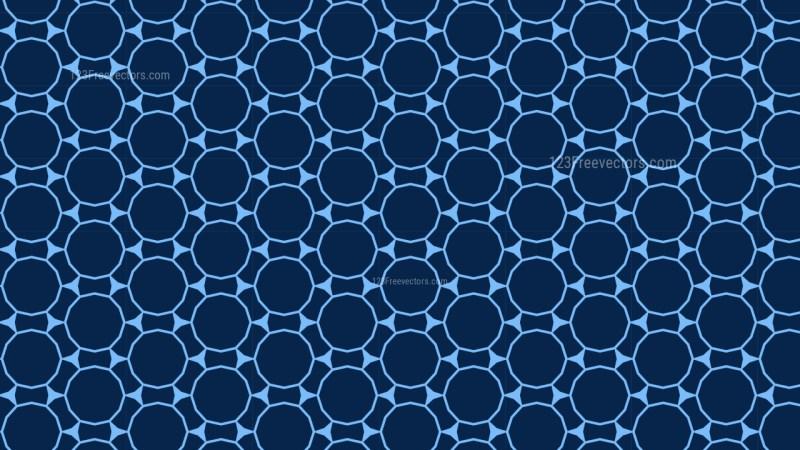 Navy Blue Seamless Circle Pattern Background
