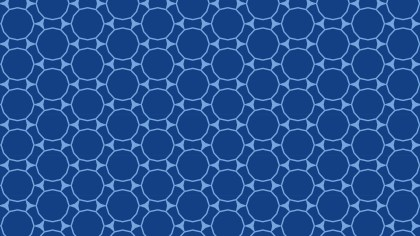 Dark Blue Seamless Circle Background Pattern