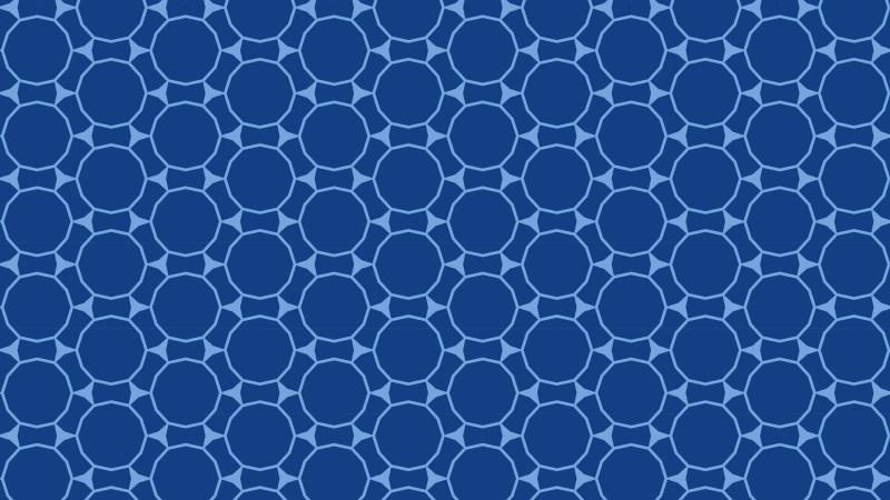 Dark Blue Seamless Circle Background Pattern