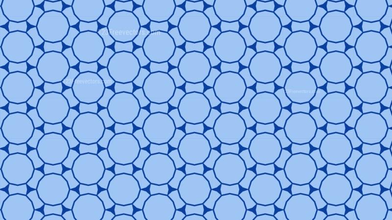 Blue Seamless Geometric Circle Pattern Background