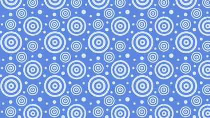 Blue Seamless Concentric Circles Background Pattern Vector Image