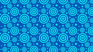 Blue Concentric Circles Pattern
