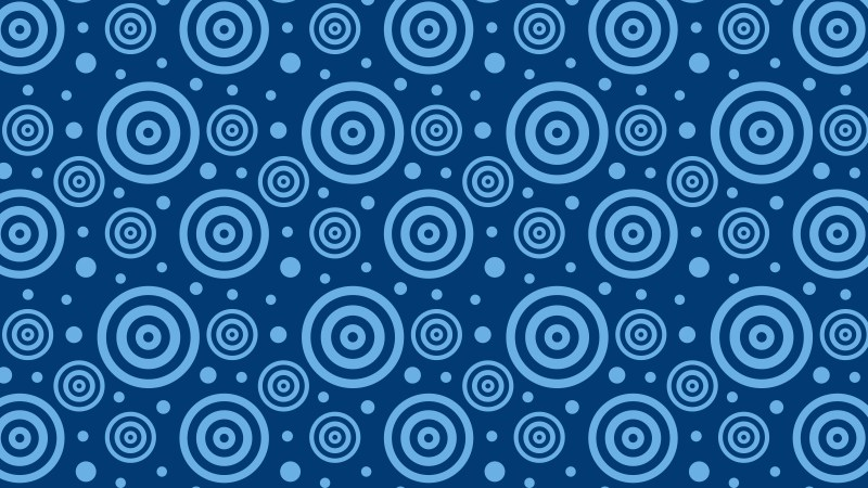 Navy Blue Seamless Concentric Circles Pattern