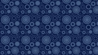 Navy Blue Seamless Geometric Circle Background Pattern