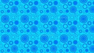 Blue Seamless Random Circles Background Pattern Vector Illustration