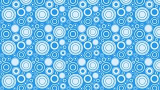 Blue Random Circles Pattern