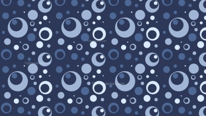 Navy Blue Seamless Geometric Circle Pattern Illustration