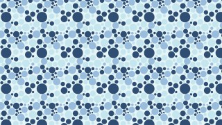 Blue Seamless Random Scattered Dots Pattern
