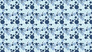 Blue Seamless Random Scattered Dots Pattern