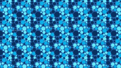 Blue Random Circles Dots Pattern Vector Art