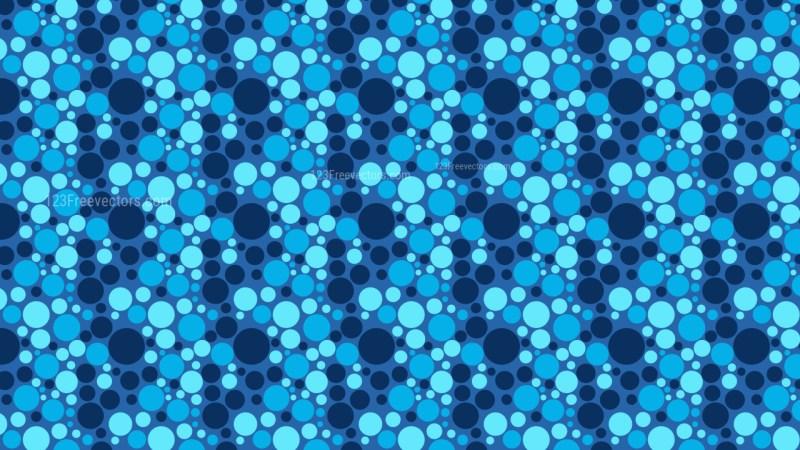 Blue Random Circles Dots Pattern Vector Art