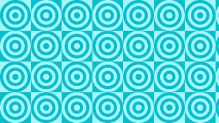 Cyan Concentric Circles Pattern Design