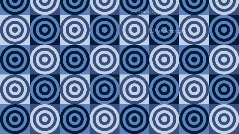 Dark Blue Concentric Circles Pattern Background Image