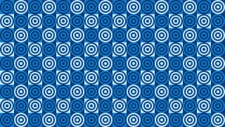 Blue Seamless Concentric Circles Pattern Vector Image