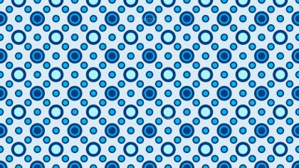 Blue Seamless Circle Pattern