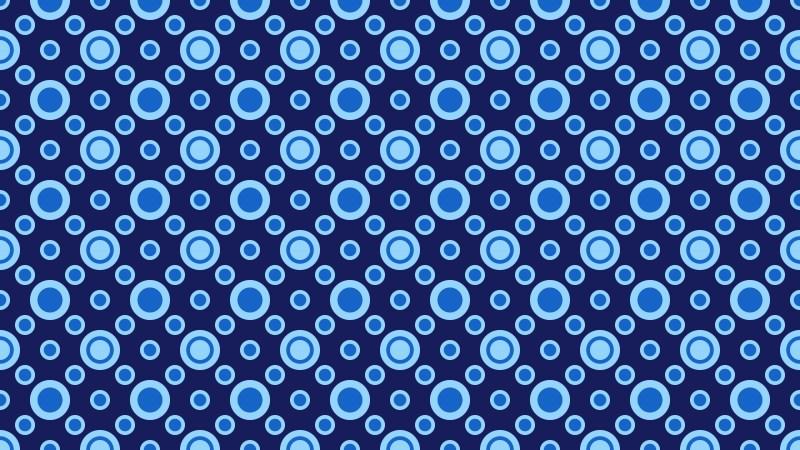 Navy Blue Seamless Circle Background Pattern