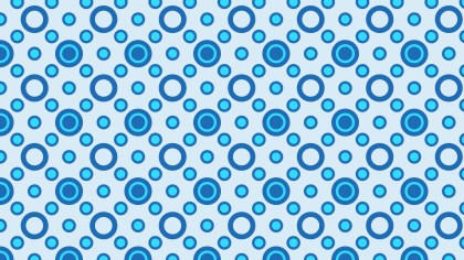 Light Blue Seamless Geometric Circle Pattern Background