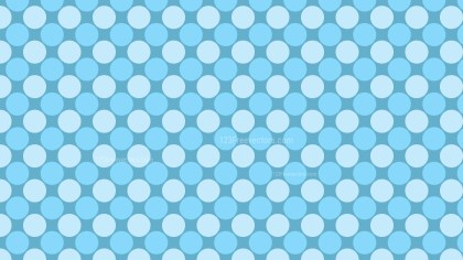 Baby Blue Seamless Geometric Circle Background Pattern