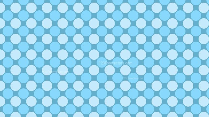 Baby Blue Seamless Geometric Circle Background Pattern