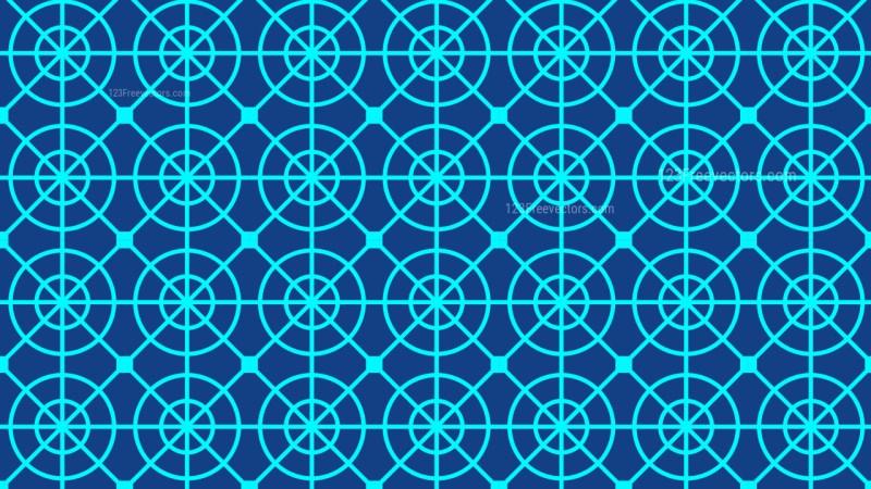 Blue Geometric Circle Pattern Background Graphic